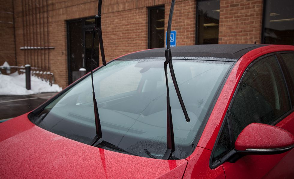 Open Car's wipers to avoid dog on roof